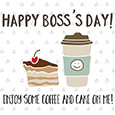 Coffee And Cake For Boss's Day.