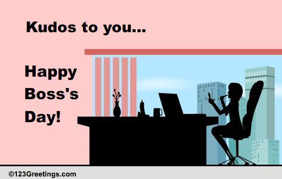 cool boss u0026 39 s day wish    free women boss ecards  greeting