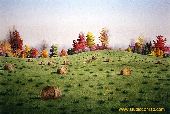 Straw Bales In October.