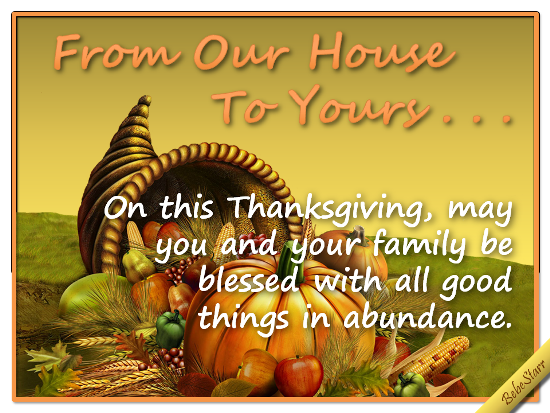 Abundant Thanksgiving.