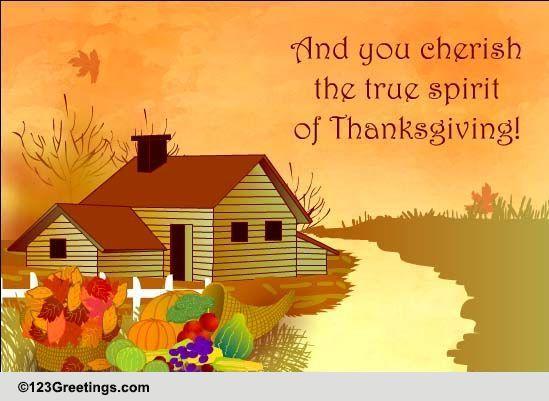 cherish the spirit of thanksgiving  free spirit of
