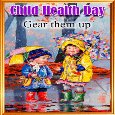 Child Health Day Ecard.