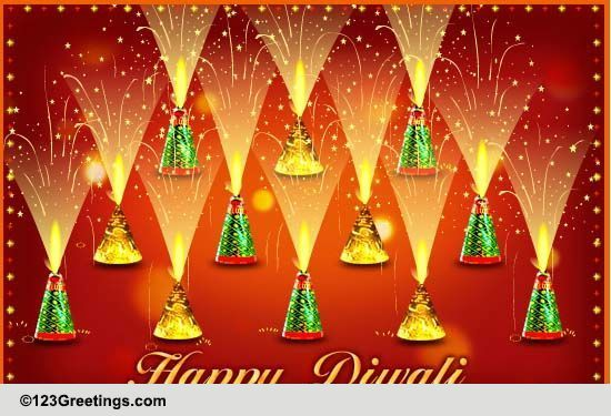 Deepavali greetings with crackers recipe