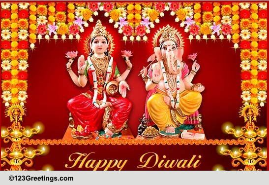 blessings and wishes on diwali  free business greetings ecards