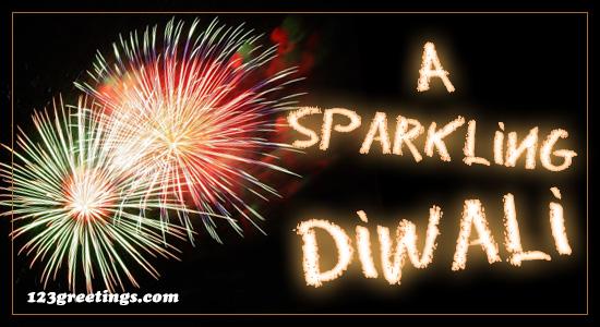 A Sparkling Diwali.