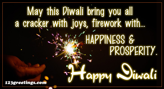 May This Diwali Bring You All...