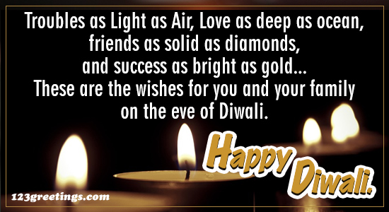 Diwali Wishes For Family.