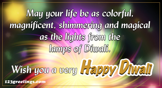 May Your Life Be As Colorful...