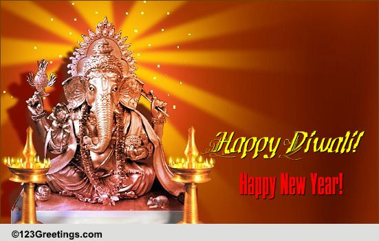 Glow With Happiness On Diwali. Free Hindu New Year eCards ...