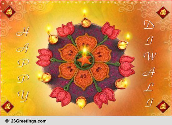 Shubh Deepawali Free Rangoli Ecards Greeting Cards 123