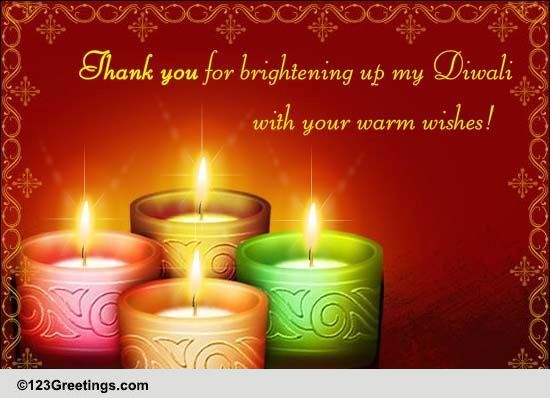 a diwali thank you message  free thank you ecards