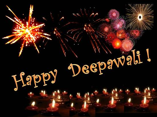 Cheerful Greetings For Diwali.