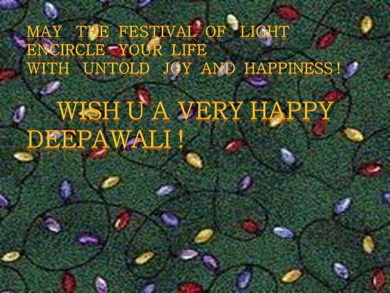 Warm Words To Wish A Happy Deepawali.