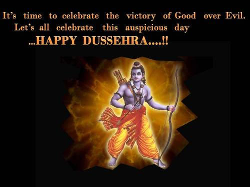 Express Your Happiness On Dussehra.