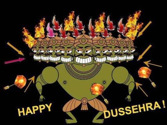 Wish Loved Ones A Very Happy Dussehra.