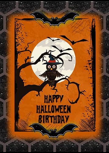 Owl Says Happy Halloween Birthday Free Happy Birthday Ecards 123