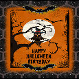 Owl Says Happy Halloween Birthday.