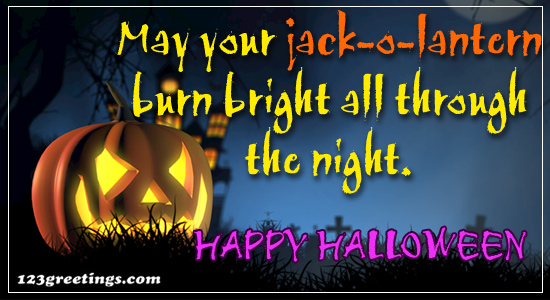 May Your Jack-o'-lantern...