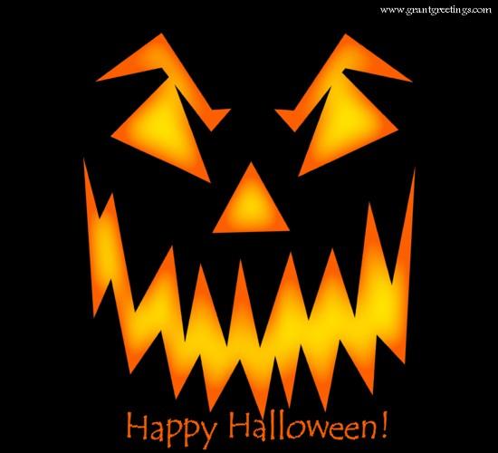 Happy Halloween Jack-o'-lantern Face.