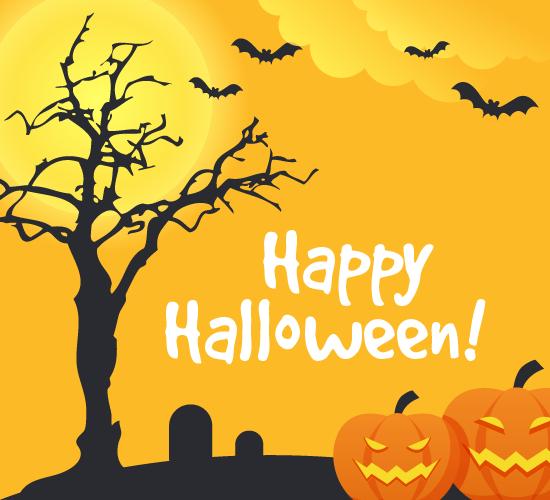 Jack-o'-lantern Halloween Night.