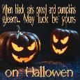 When Pumpkins Gleam...