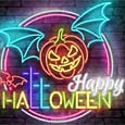 Happy Halloween Neon Light.