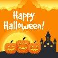 Jack-o'-lantern Halloween House.