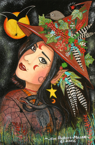 Woodland Witch For Halloween.