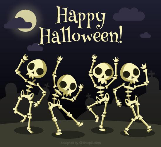 Happy Halloween Skeleton.
