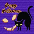 Happy Halloween Creepy Scary Scene.