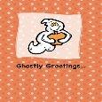 Ghostly Greetings On Halloween.