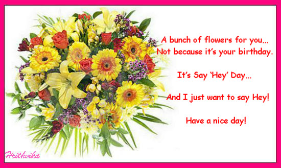A Bunch Of Flowers For You...