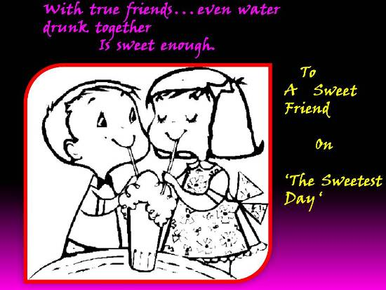 Sweet And Loving Wishes For A Friend.