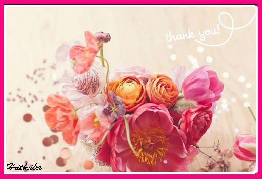 A Floral Thank You Ecard.