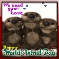 My World Animal Day Ecard.