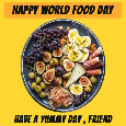 Happy World Food Day Plate.