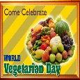 A World Vegetarian Day  Ecard.