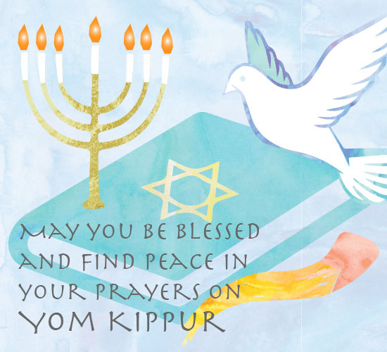 Blessings and peace on yom kippur free yom kippur ecards 123 blessings and peace on yom kippur m4hsunfo