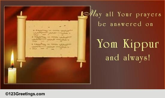 all your prayers    free yom kippur ecards  greeting cards