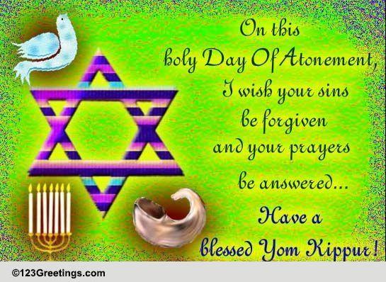 yom kippur blessings free yom kippur ecards, greeting cards, Greeting card