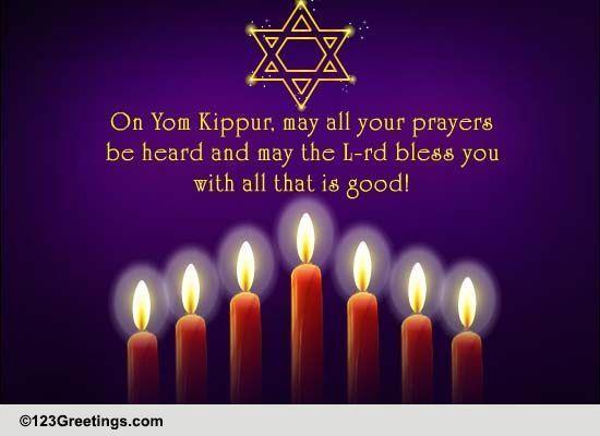 your prayers be heard free yom kippur ecards, greeting cards, Greeting card