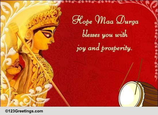 Saying Thank You On Durga Puja. Free Thank You eCards ...