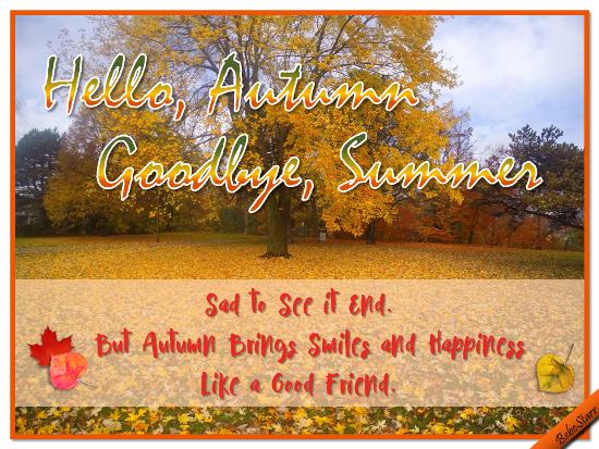 Hello, Autumn!