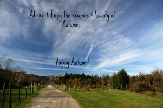 A Very Happy Autumn..