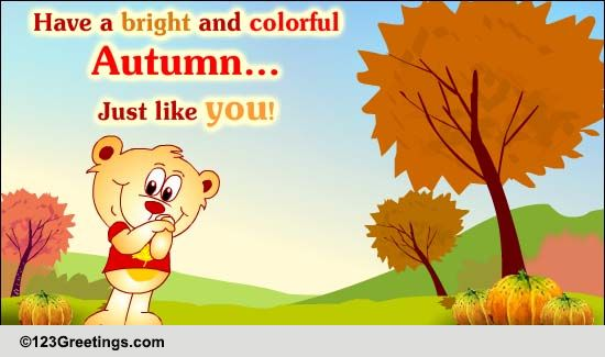warm autumn hug  free happy autumn ecards  greeting cards