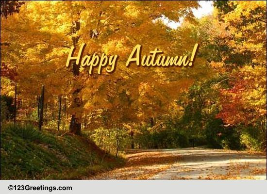 wish a bright and happy autumn  free happy autumn ecards