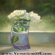 Painting Of Roses In Vase.
