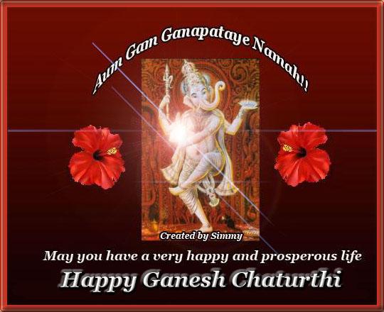 Om Gam Ganapataye Namaha.