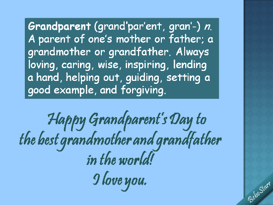 Best Grandparents In The World!