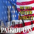 My Patriot Day Card.